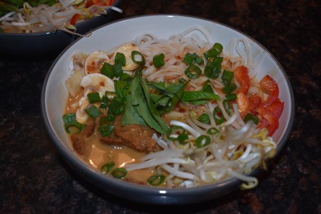 Vegan Beef Satay Noode Soup