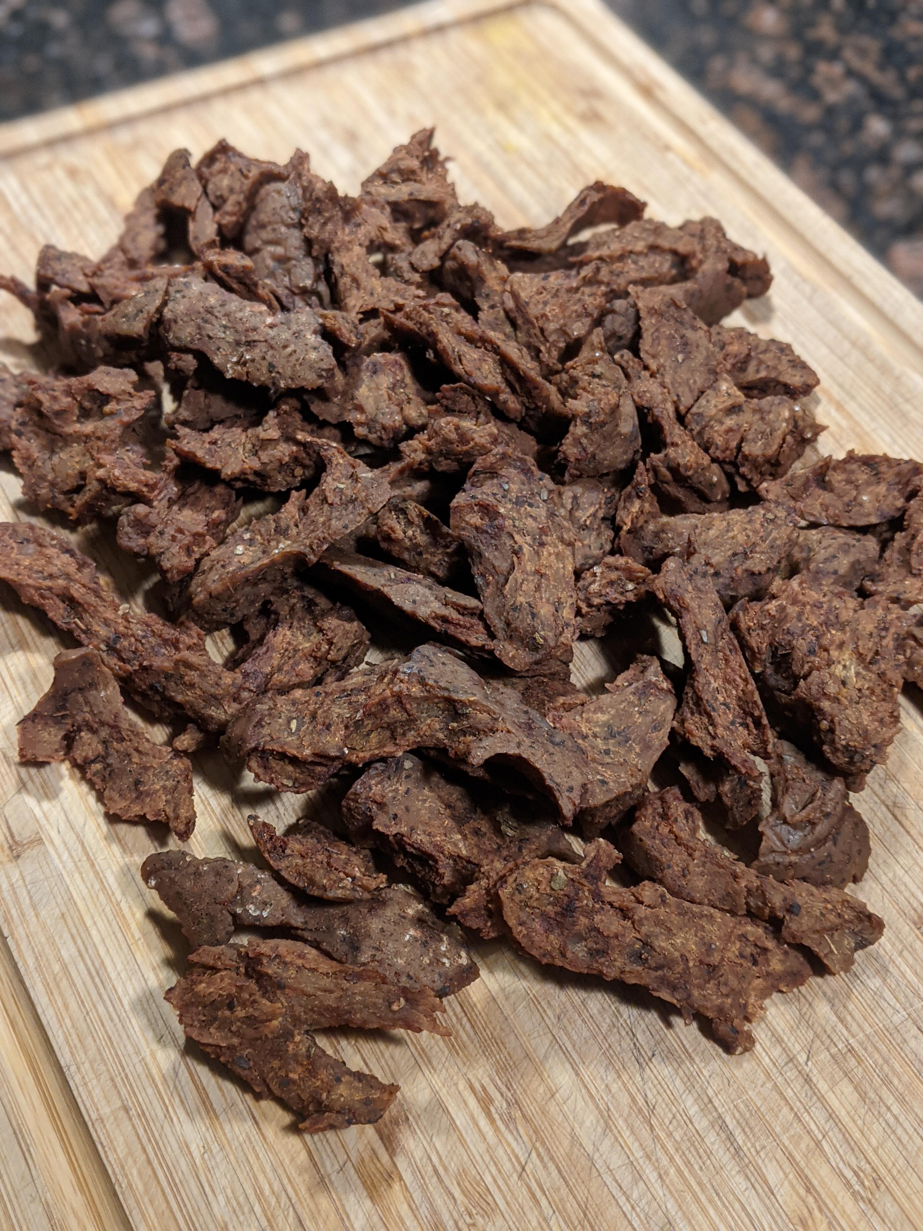 Vegan Beef Jerky Made with Setian